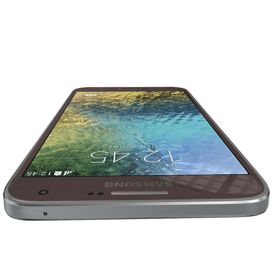 Samsung Galaxy E7 Brown royalty-free 3d model - Preview no. 10