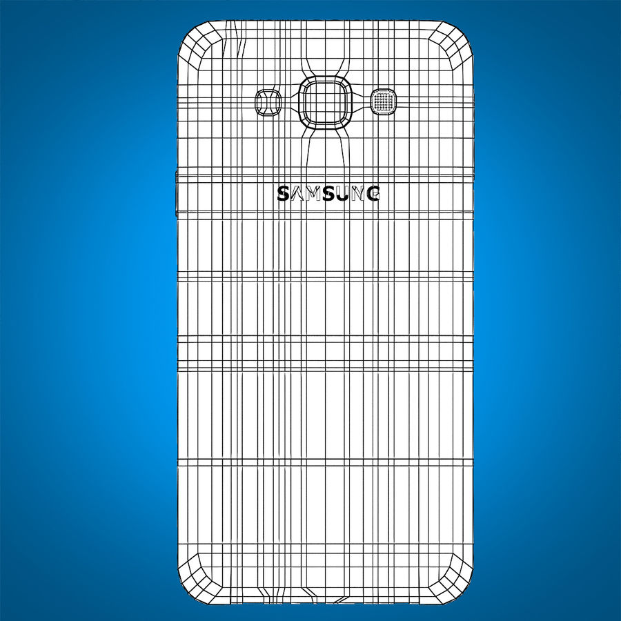 Samsung Galaxy E7 Brown royalty-free 3d model - Preview no. 20