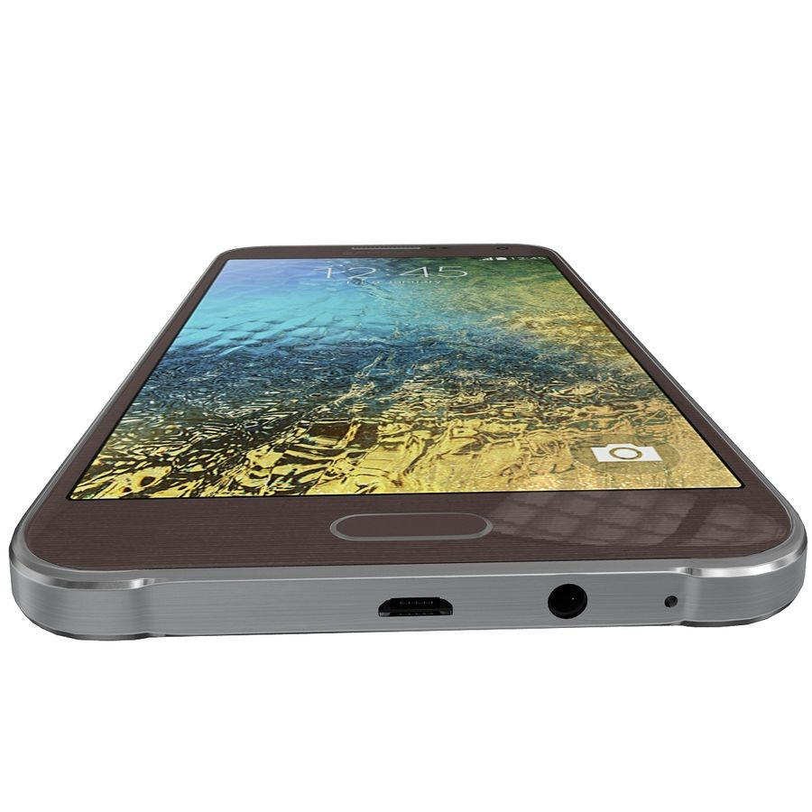 Samsung Galaxy E7 Brown royalty-free 3d model - Preview no. 9