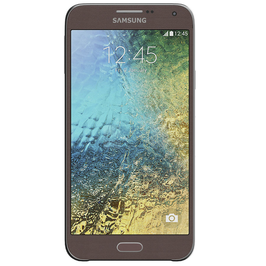 Samsung Galaxy E7 Brown royalty-free 3d model - Preview no. 5