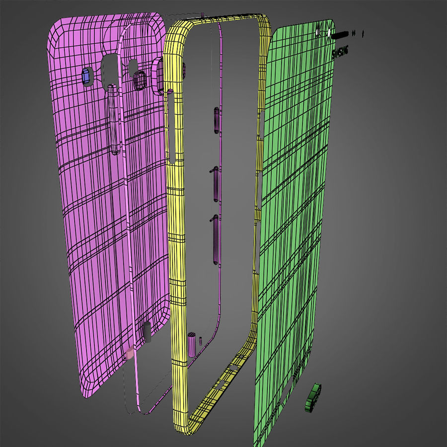 Samsung Galaxy E7 Brown royalty-free 3d model - Preview no. 32
