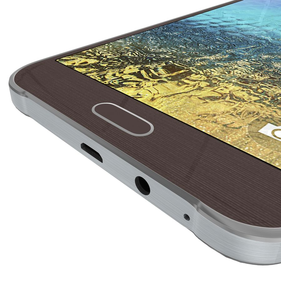 Samsung Galaxy E7 Brown royalty-free 3d model - Preview no. 16