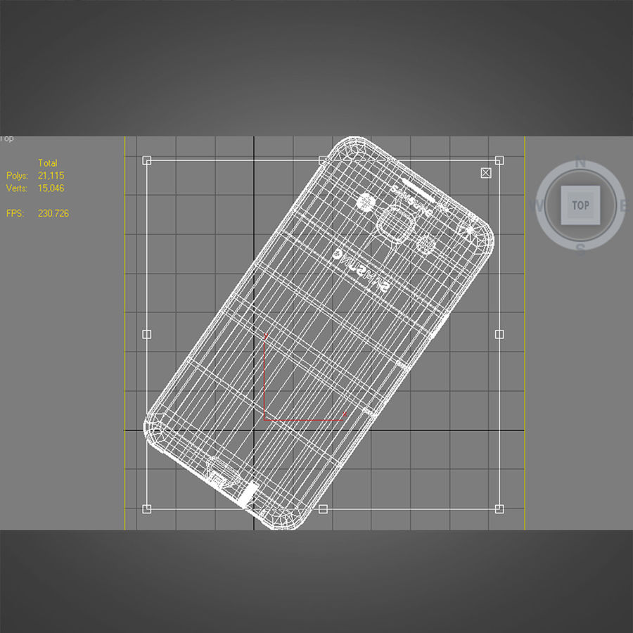 Samsung Galaxy E7 Brown royalty-free 3d model - Preview no. 31