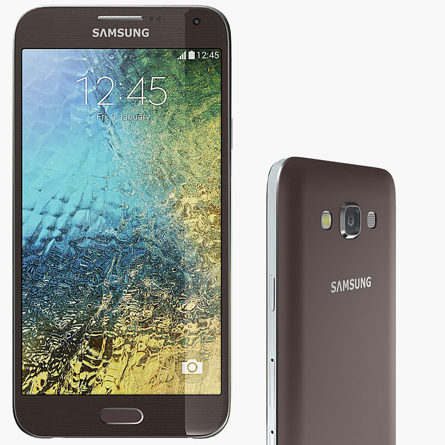Samsung Galaxy E7 Brown royalty-free 3d model - Preview no. 1