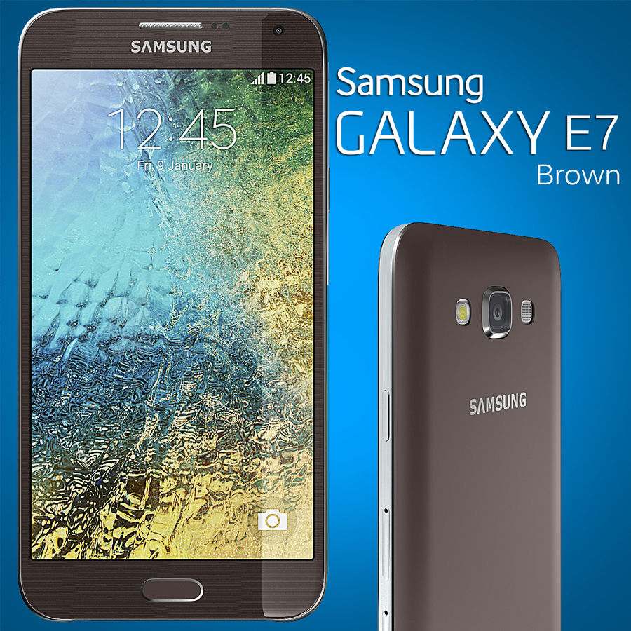 Samsung Galaxy E7 Brown royalty-free 3d model - Preview no. 2