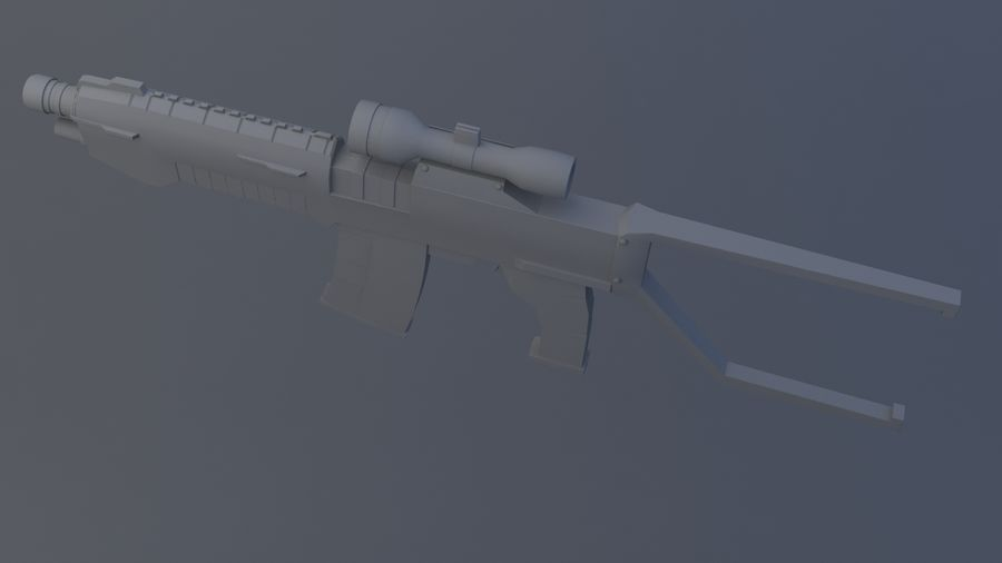 arma de fogo royalty-free 3d model - Preview no. 4