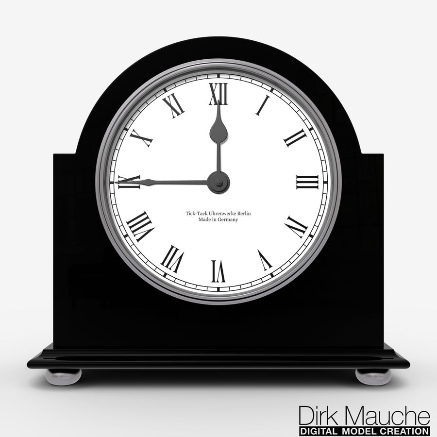 reloj de estante 02 royalty-free modelo 3d - Preview no. 5