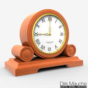 shelf clock 03 3d model