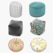 Poufs Collection 3d model