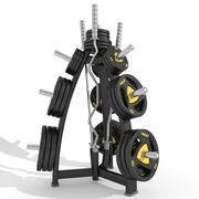 Disc Storage W barholders 3d model