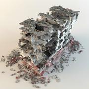 förstör sjukhuset 3d model