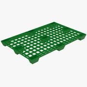 Reusable Plastic Pallet Green 3D Model 3d model