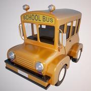 Autobús escolar modelo 3d
