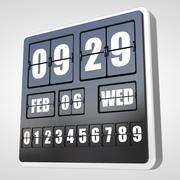 Flip Clock Wall 3d model