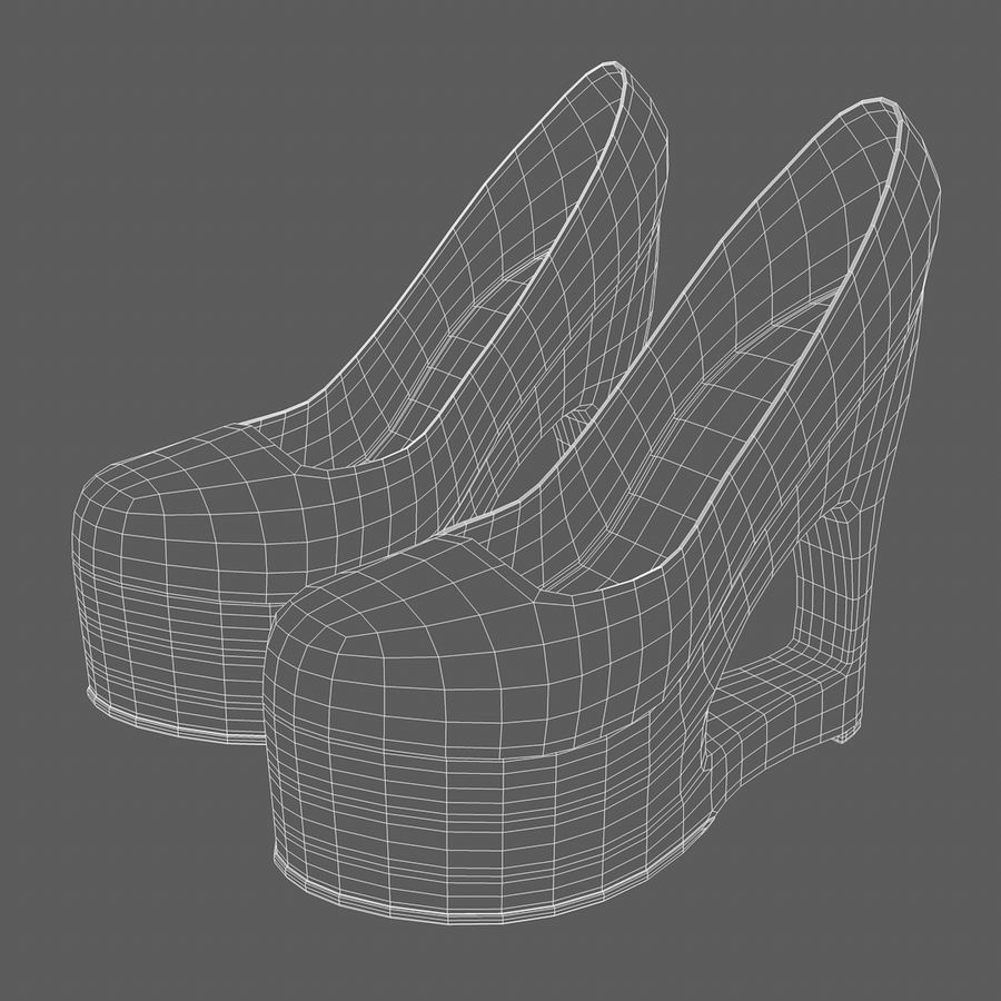 Tacones altos royalty-free modelo 3d - Preview no. 10