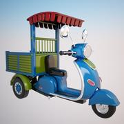 Cartoon Motorcycle 3d model