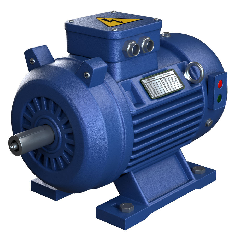 Electric Motor royalty-free 3d model - Preview no. 1