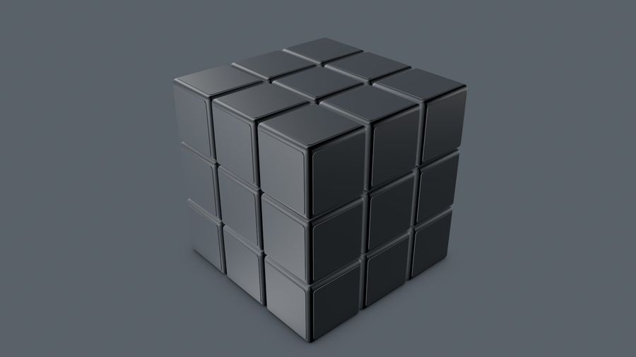Magische kubus royalty-free 3d model - Preview no. 7