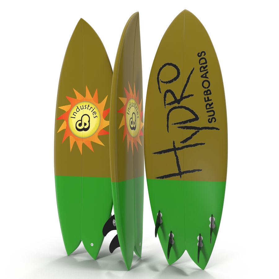 Surfboard Fish Modèle 3D royalty-free 3d model - Preview no. 3