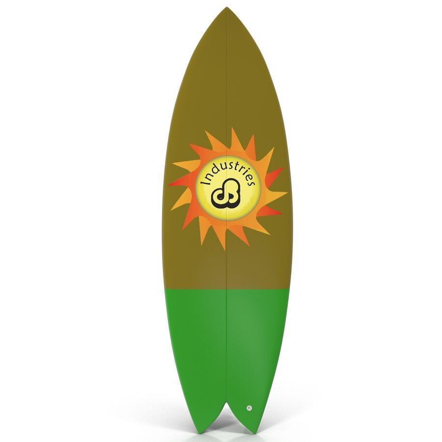 Surfboard Fish Modèle 3D royalty-free 3d model - Preview no. 5