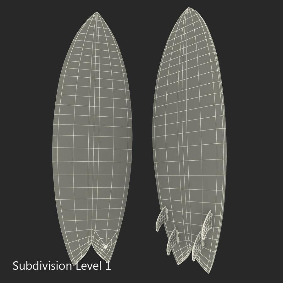 Surfboard Fish Modèle 3D royalty-free 3d model - Preview no. 13