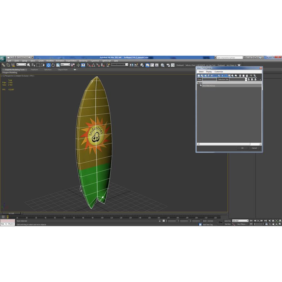 Surfboard Fish Modèle 3D royalty-free 3d model - Preview no. 17