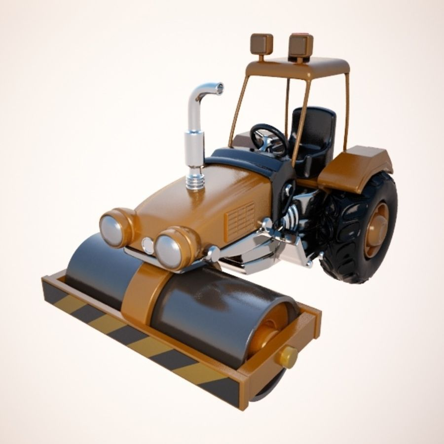 Road Roller royalty-free 3d model - Preview no. 1