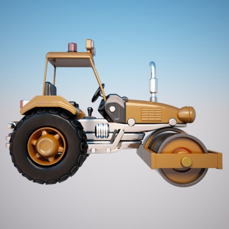 Road Roller royalty-free 3d model - Preview no. 5