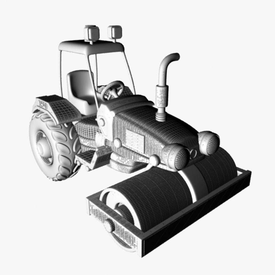 Road Roller royalty-free 3d model - Preview no. 9