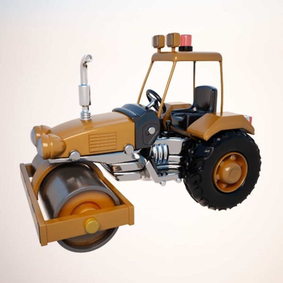 Road Roller royalty-free 3d model - Preview no. 2