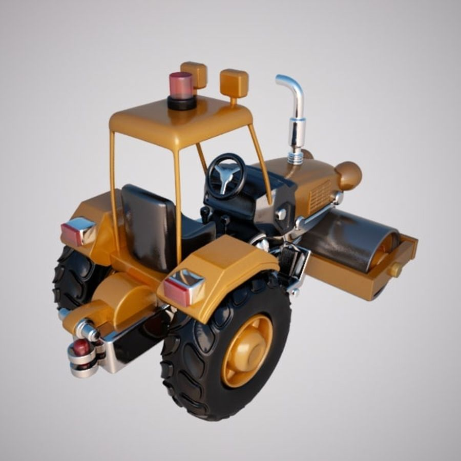Road Roller royalty-free 3d model - Preview no. 6
