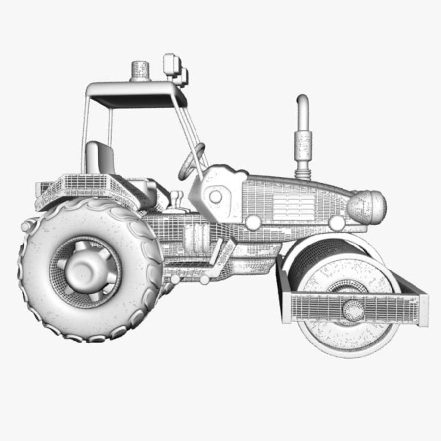 Road Roller royalty-free 3d model - Preview no. 8