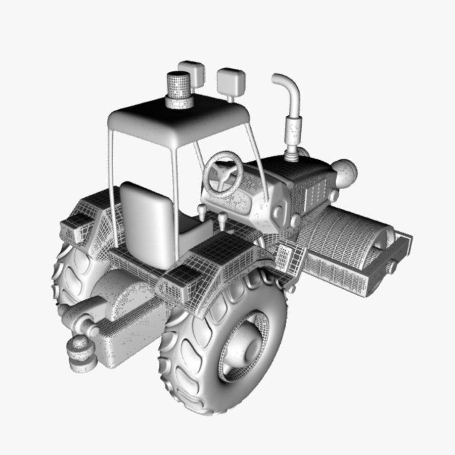 Road Roller royalty-free 3d model - Preview no. 7