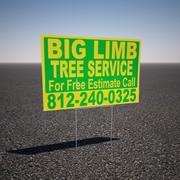 Дерево Сервис Двор Знак 3d model