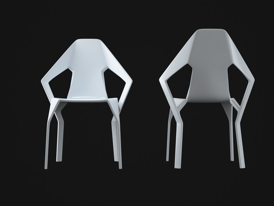 Amsterdam-Chair royalty-free 3d model - Preview no. 6