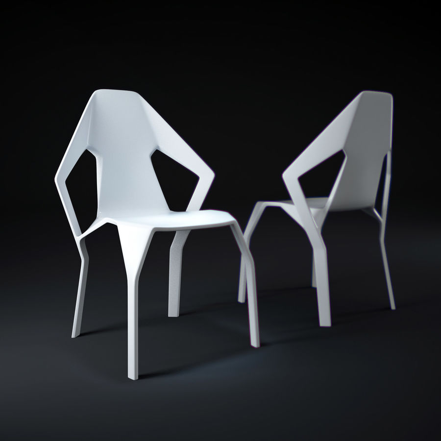 Amsterdam-Chair royalty-free 3d model - Preview no. 1