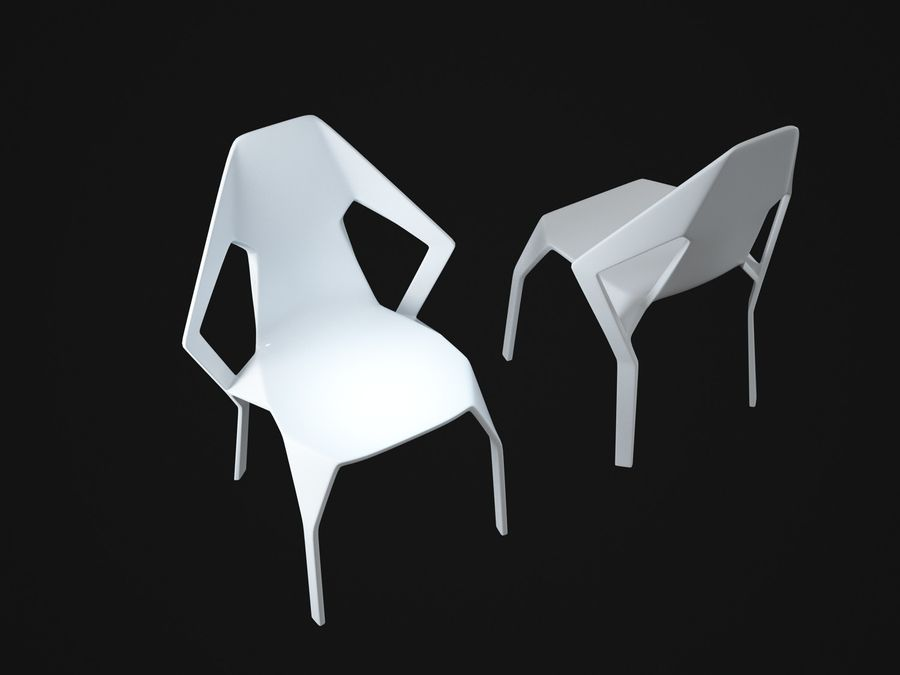 Amsterdam-Chair royalty-free 3d model - Preview no. 8