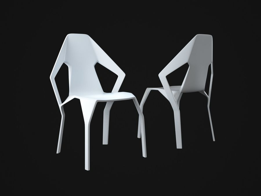 Amsterdam-Chair royalty-free 3d model - Preview no. 2