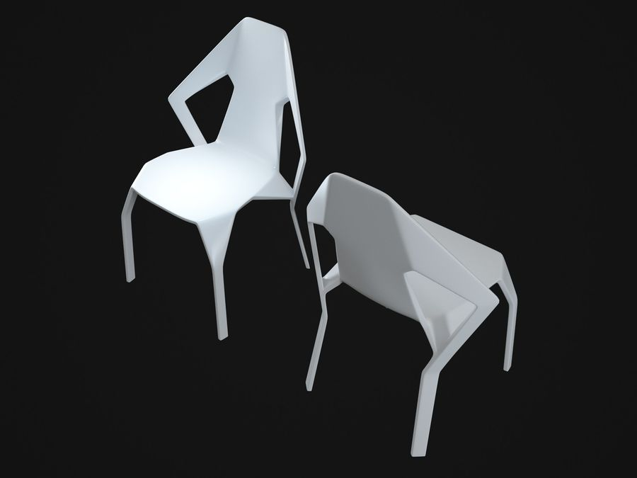Amsterdam-Chair royalty-free 3d model - Preview no. 7