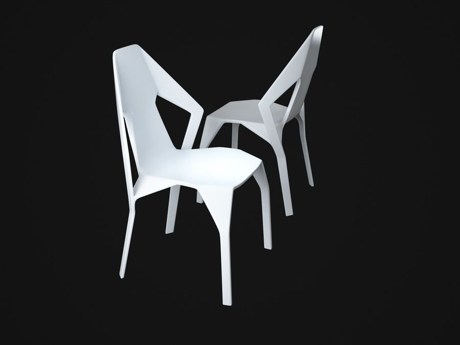 Amsterdam-Chair royalty-free 3d model - Preview no. 3