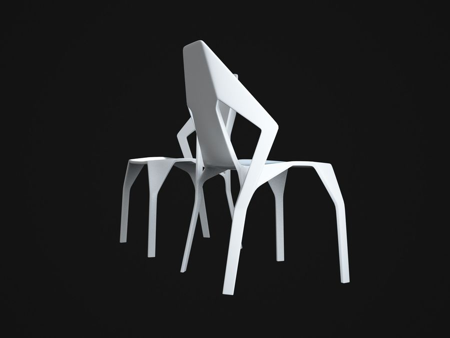 Amsterdam-Chair royalty-free 3d model - Preview no. 4