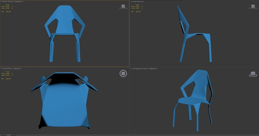 Amsterdam-Chair royalty-free 3d model - Preview no. 9
