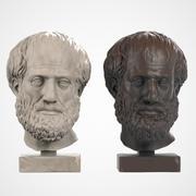 Aristoteles Head Sculpture 3d model
