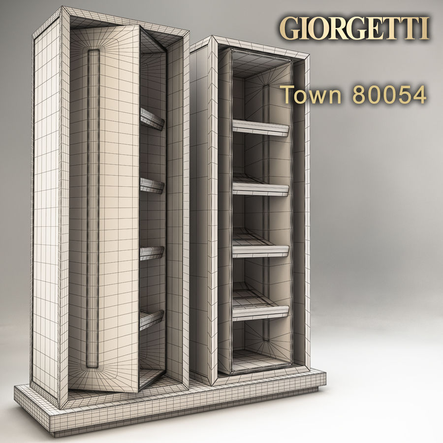 Stadt 80054 royalty-free 3d model - Preview no. 6