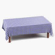 Bord med bordduk rektangulär3 3d model