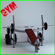 Olympic Incline Press 3d model