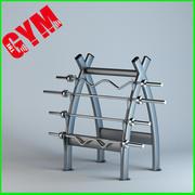 Barbell Rack 3d model
