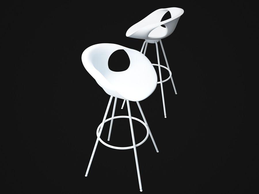 Stołek na krzesło royalty-free 3d model - Preview no. 3