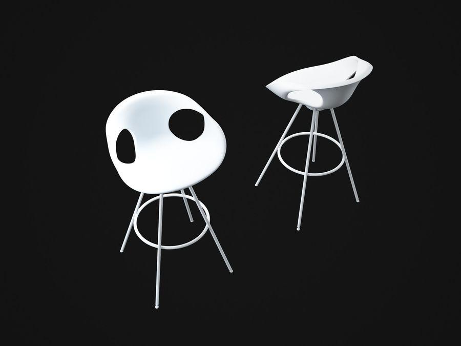 Stołek na krzesło royalty-free 3d model - Preview no. 8