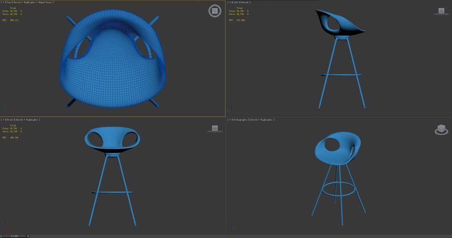 Stołek na krzesło royalty-free 3d model - Preview no. 9